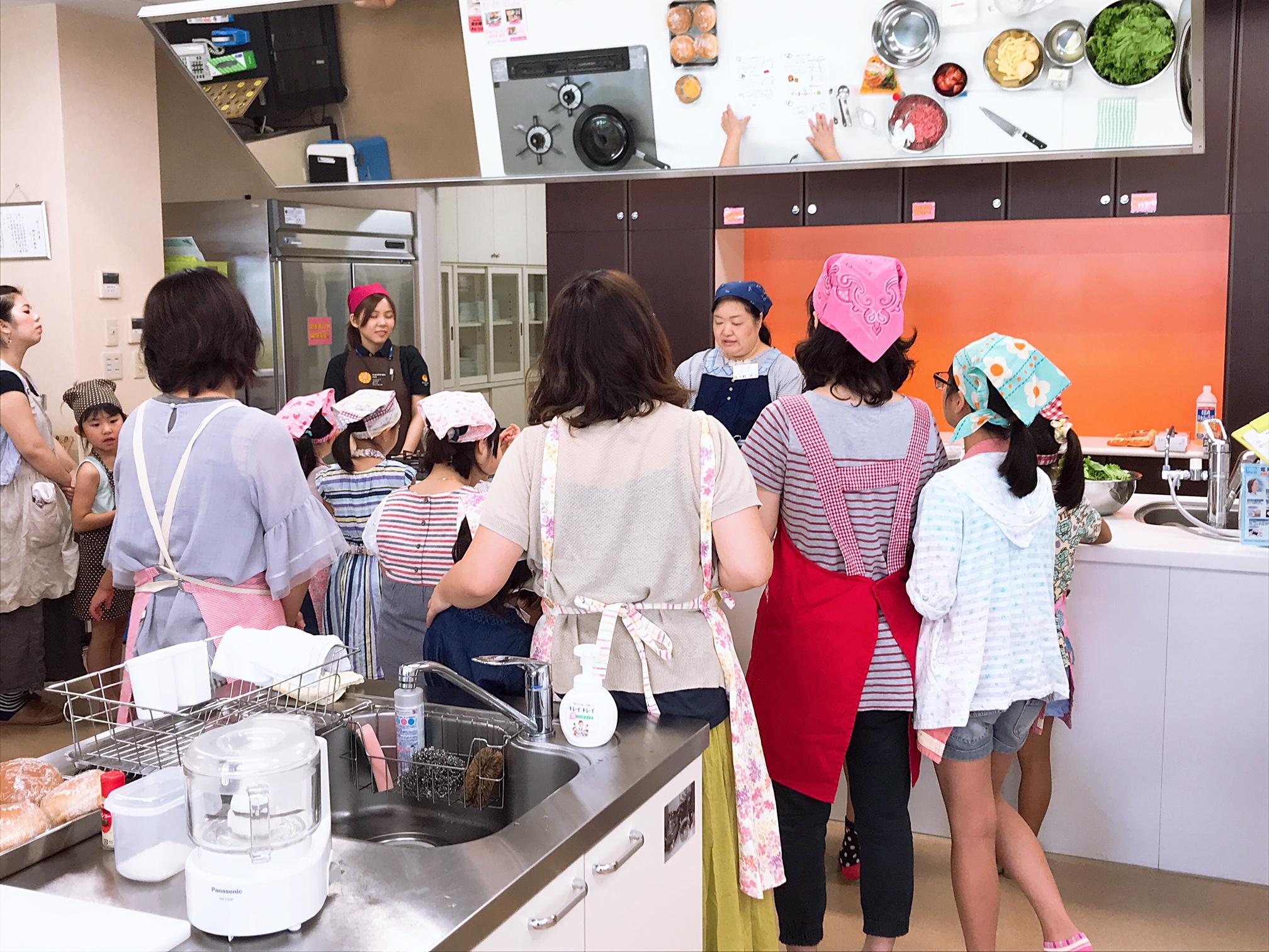 夏休み!親子で楽しく手作りハンバーガーコース イメージ
